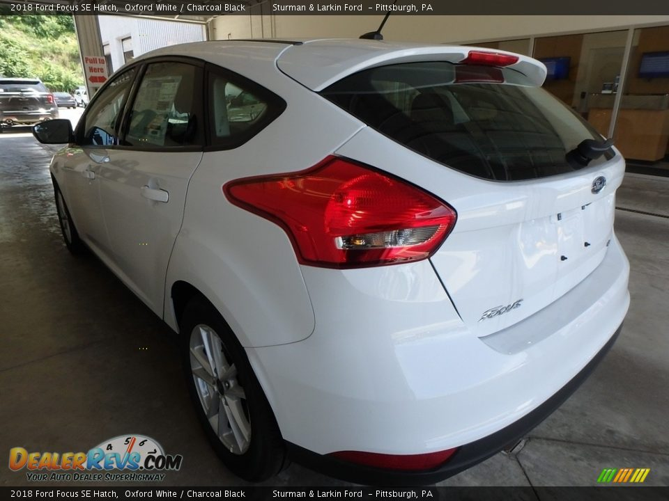 2018 Ford Focus SE Hatch Oxford White / Charcoal Black Photo #3