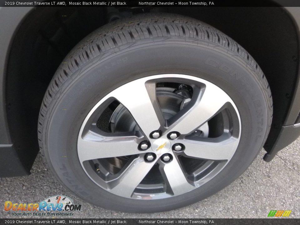 2019 Chevrolet Traverse LT AWD Mosaic Black Metallic / Jet Black Photo #8