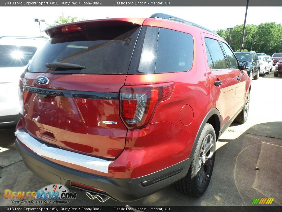 2018 Ford Explorer Sport 4WD Ruby Red / Ebony Black Photo #3