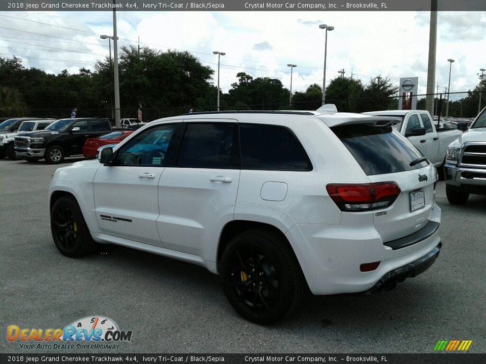2018 Jeep Grand Cherokee Trackhawk 4x4 Ivory Tri-Coat / Black/Sepia Photo #3
