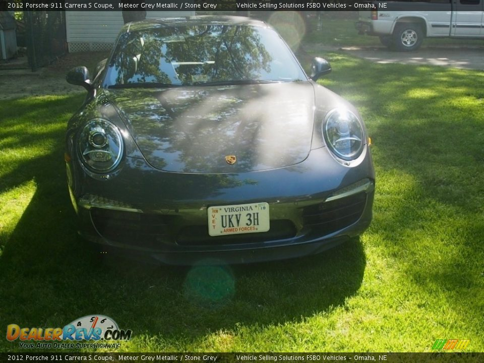 2012 Porsche 911 Carrera S Coupe Meteor Grey Metallic / Stone Grey Photo #4