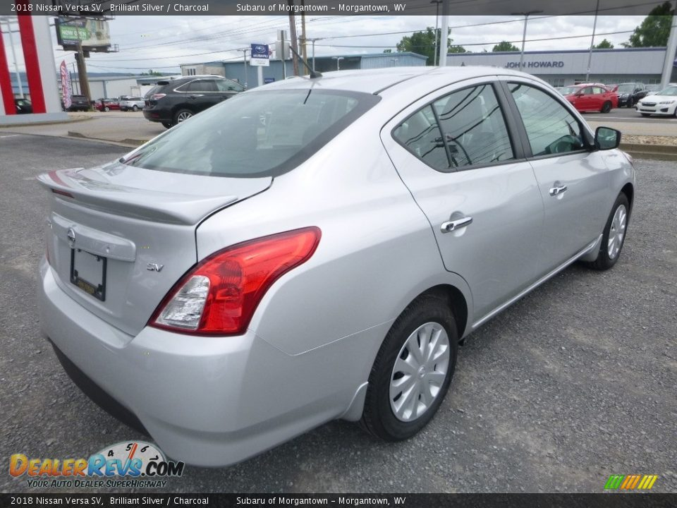 2018 Nissan Versa SV Brilliant Silver / Charcoal Photo #4