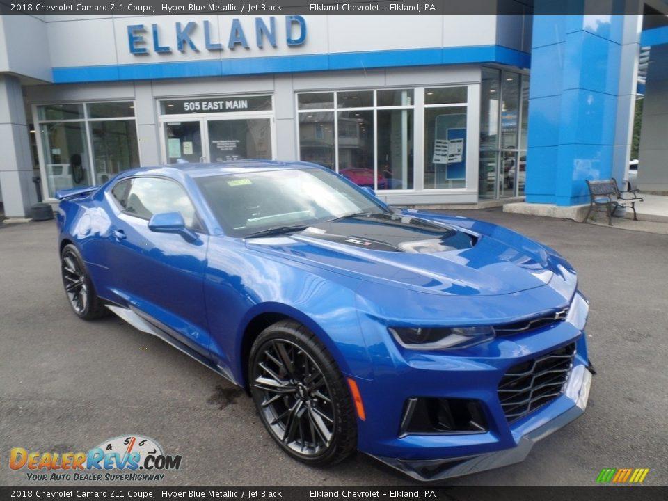 2018 Chevrolet Camaro ZL1 Coupe Hyper Blue Metallic / Jet Black Photo #6