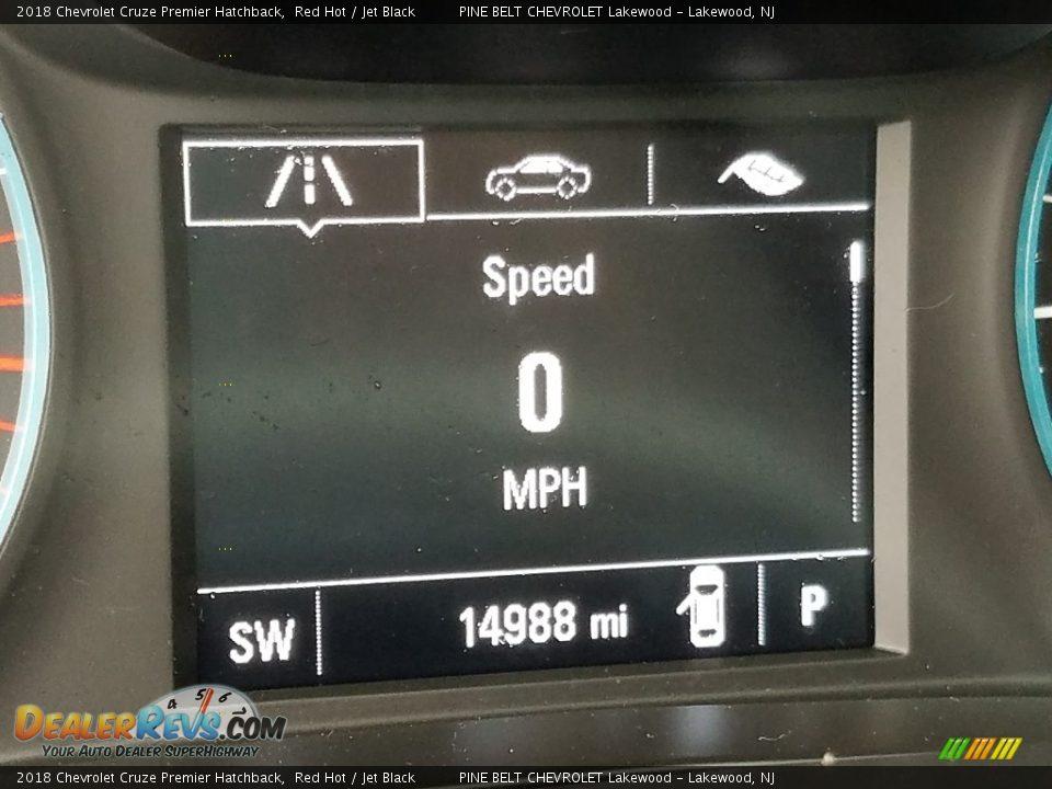 2018 Chevrolet Cruze Premier Hatchback Red Hot / Jet Black Photo #5