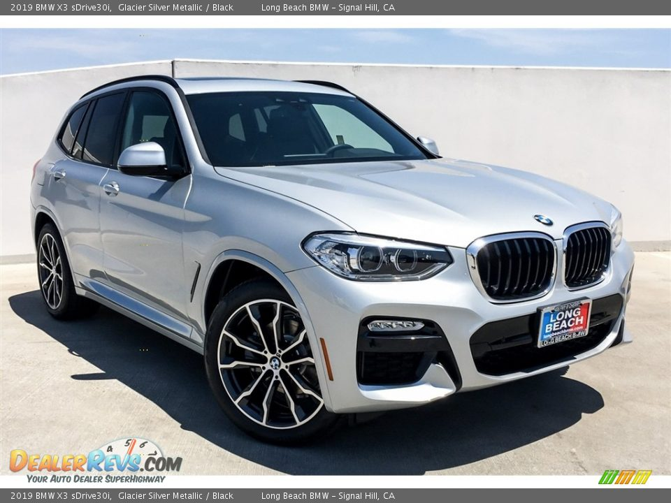 2019 BMW X3 sDrive30i Glacier Silver Metallic / Black Photo #12