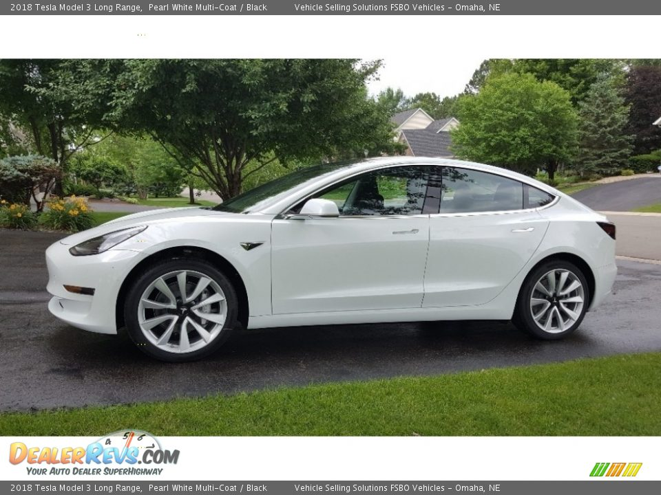 Pearl White Multi-Coat 2018 Tesla Model 3 Long Range Photo #1