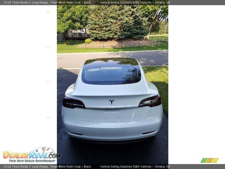 2018 Tesla Model 3 Long Range Pearl White Multi-Coat / Black Photo #4