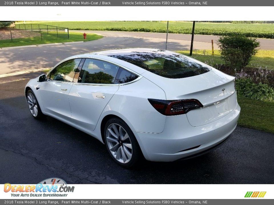 2018 Tesla Model 3 Long Range Pearl White Multi-Coat / Black Photo #5