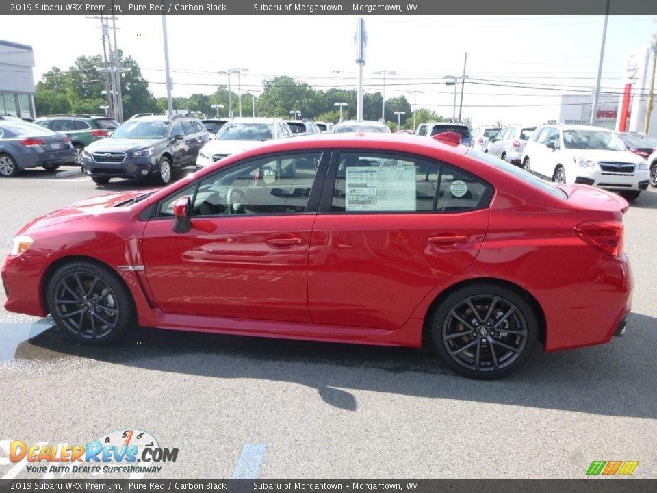 2019 Subaru WRX Premium Pure Red / Carbon Black Photo #7