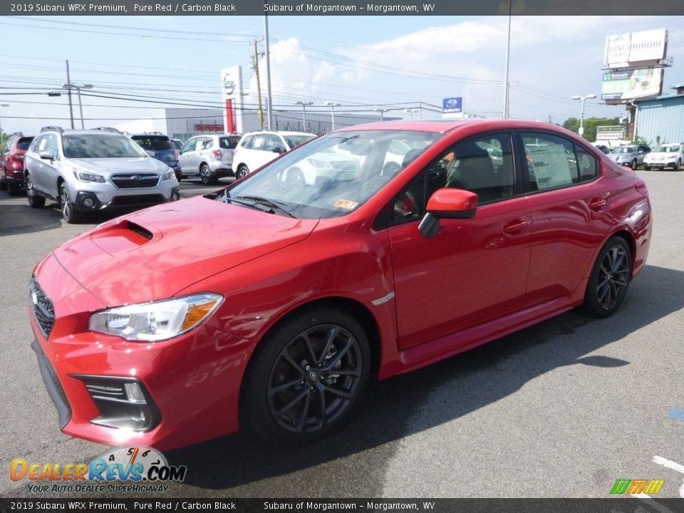 2019 Subaru WRX Premium Pure Red / Carbon Black Photo #8