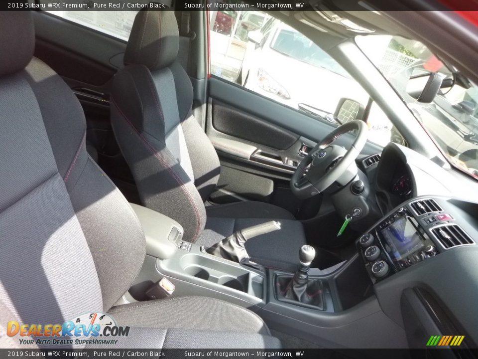 Front Seat of 2019 Subaru WRX Premium Photo #10