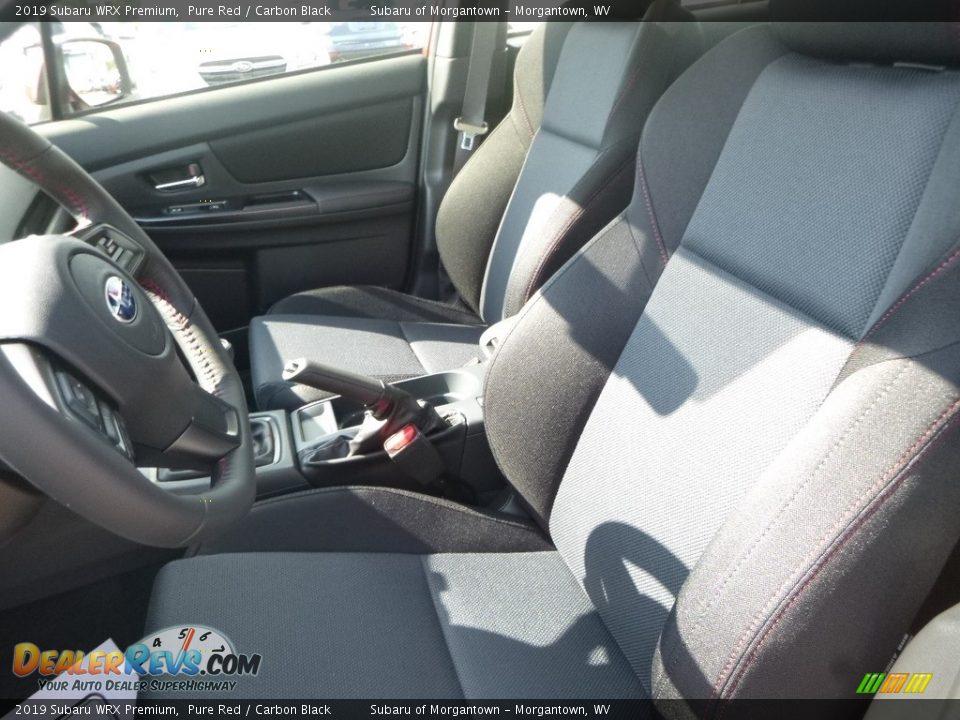 Front Seat of 2019 Subaru WRX Premium Photo #14