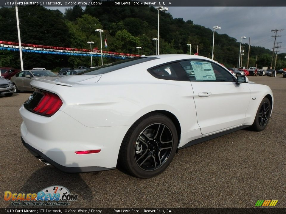 2019 Ford Mustang GT Fastback Oxford White / Ebony Photo #2