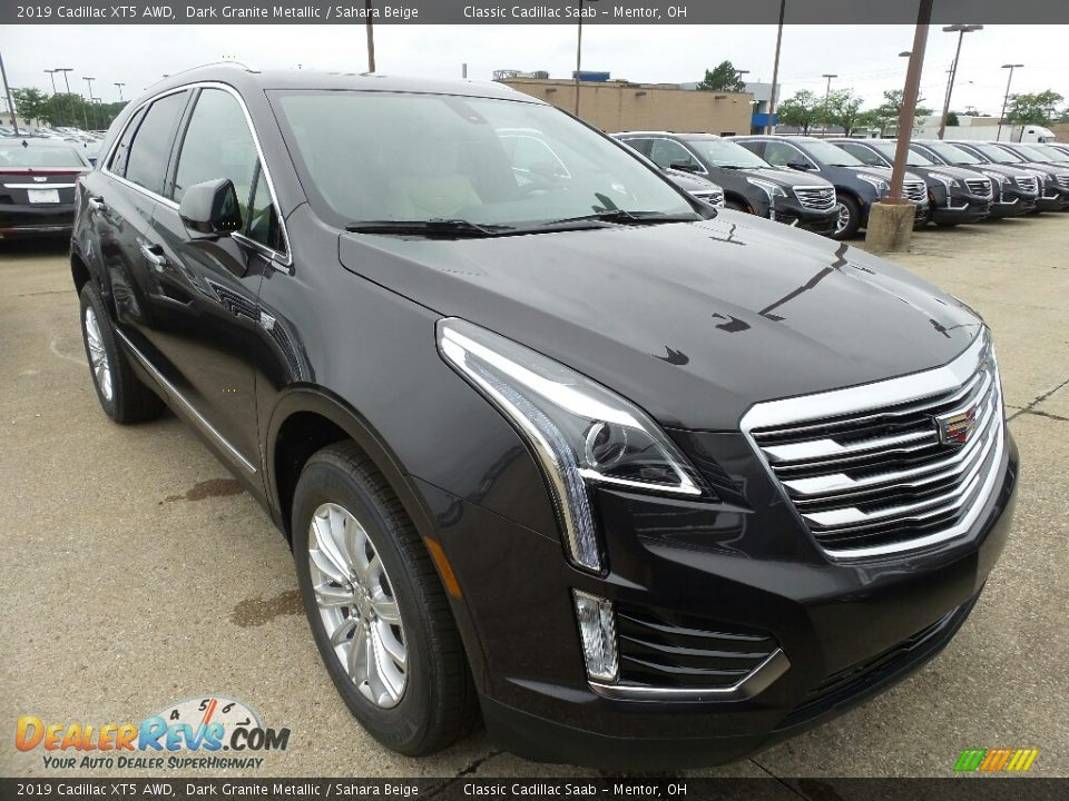 2019 Cadillac XT5 AWD Dark Granite Metallic / Sahara Beige Photo #1
