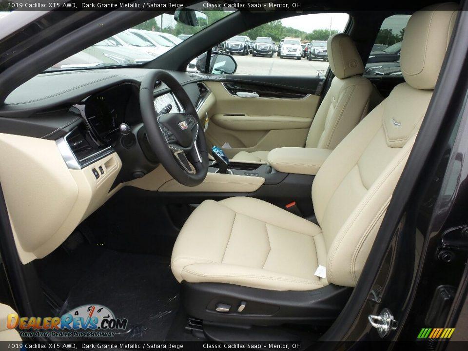 2019 Cadillac XT5 AWD Dark Granite Metallic / Sahara Beige Photo #3