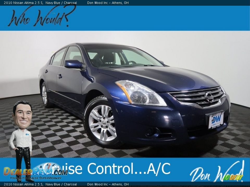2010 Nissan Altima 2.5 S Navy Blue / Charcoal Photo #1