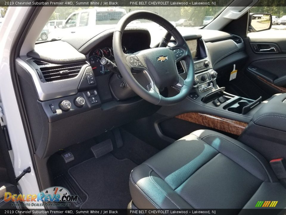 Jet Black Interior - 2019 Chevrolet Suburban Premier 4WD Photo #7