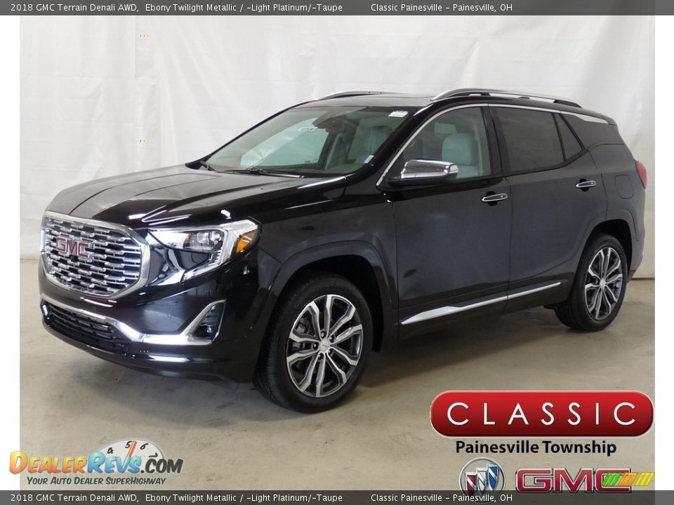 2018 GMC Terrain Denali AWD Ebony Twilight Metallic / ­Light Platinum/­Taupe Photo #1