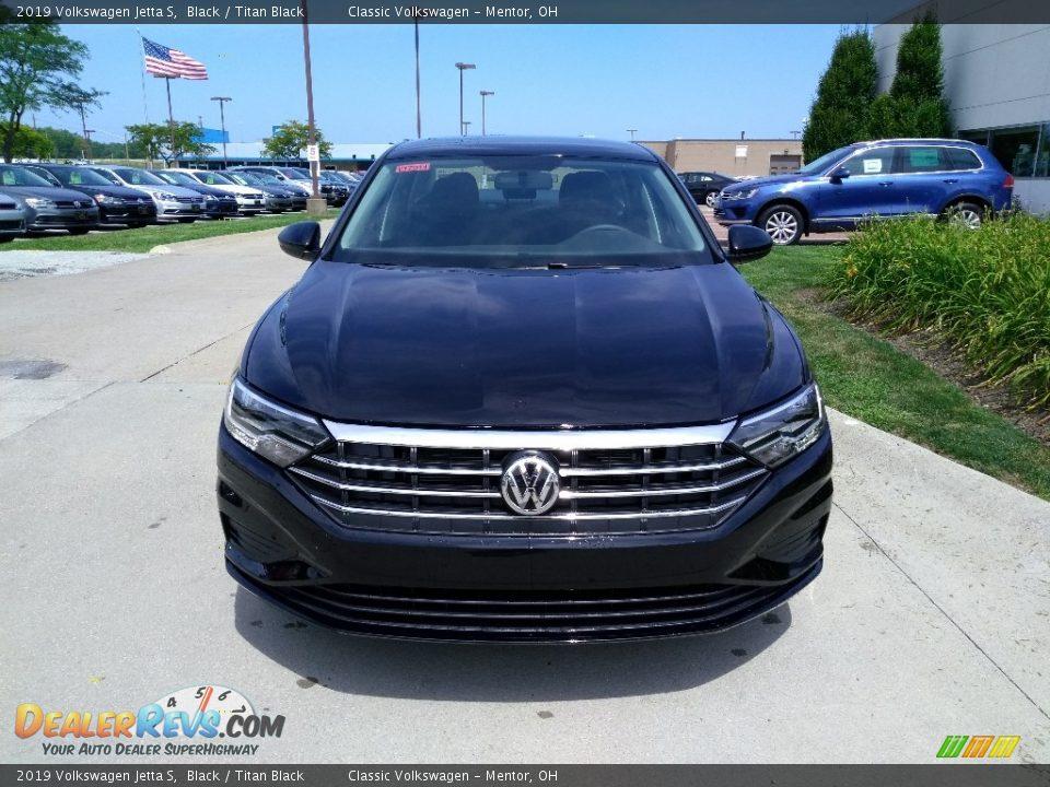 2019 Volkswagen Jetta S Black / Titan Black Photo #1