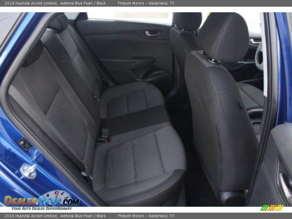 2019 Hyundai Accent Limited Admiral Blue Pearl / Black Photo #25