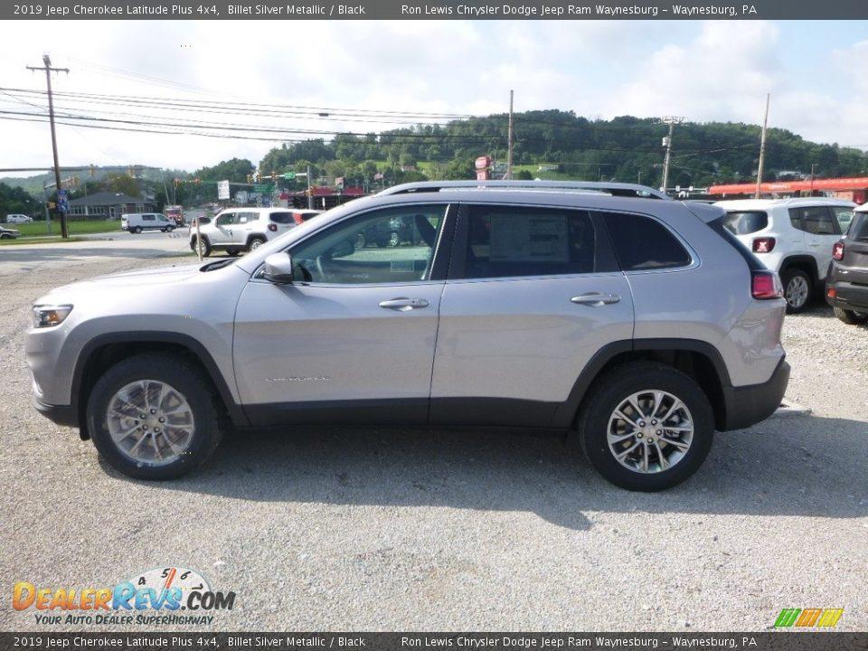 2019 Jeep Cherokee Latitude Plus 4x4 Billet Silver Metallic / Black Photo #2