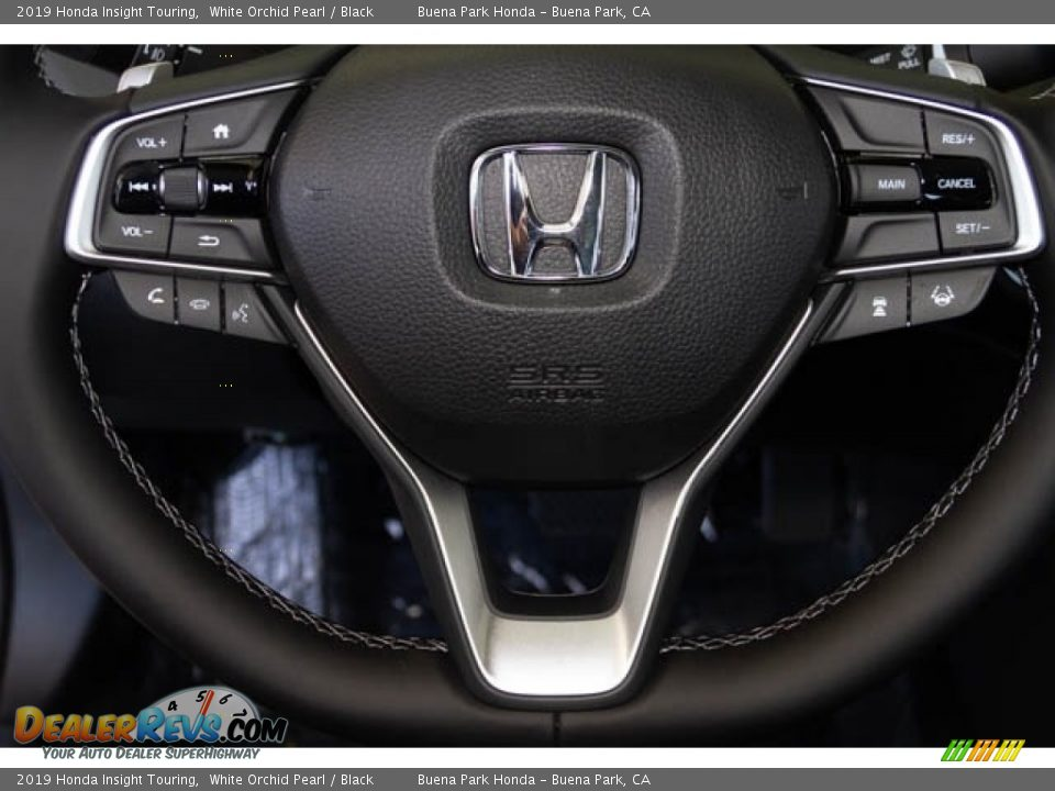 2019 Honda Insight Touring White Orchid Pearl / Black Photo #21