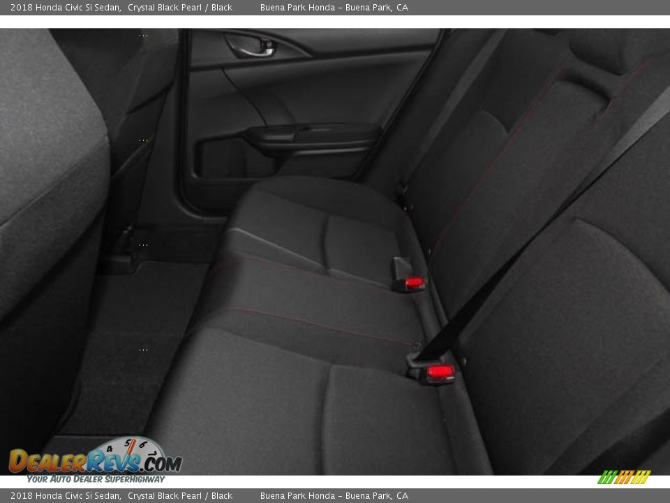 2018 Honda Civic Si Sedan Crystal Black Pearl / Black Photo #9