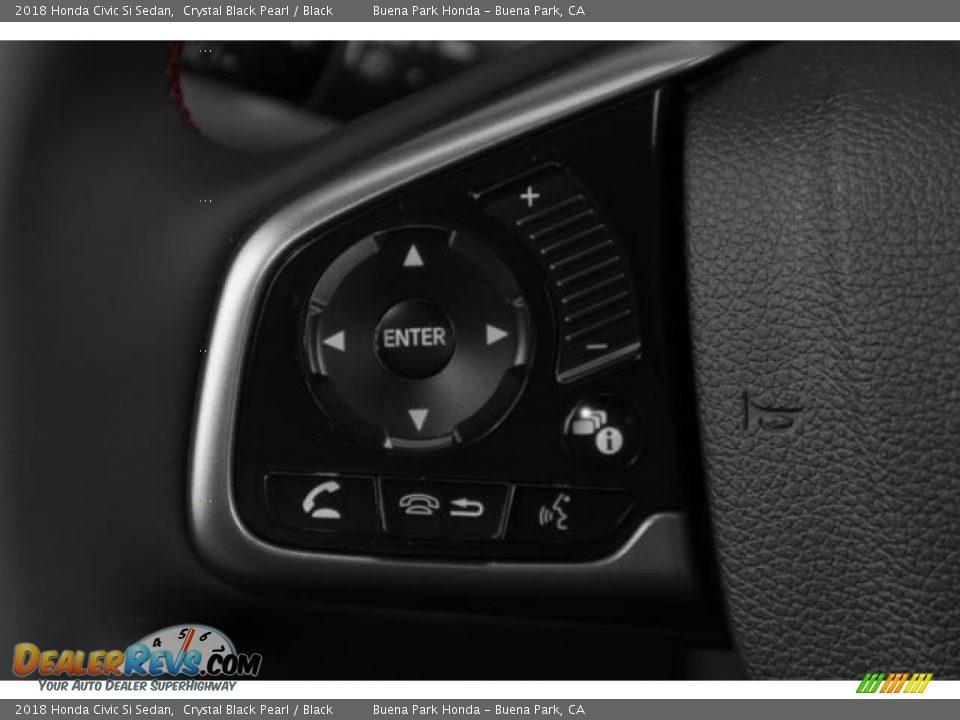 2018 Honda Civic Si Sedan Crystal Black Pearl / Black Photo #13