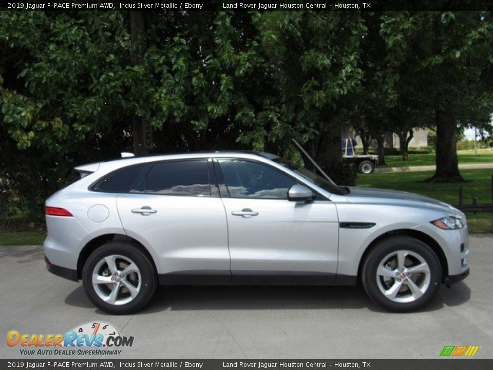 2019 Jaguar F-PACE Premium AWD Indus Silver Metallic / Ebony Photo #6