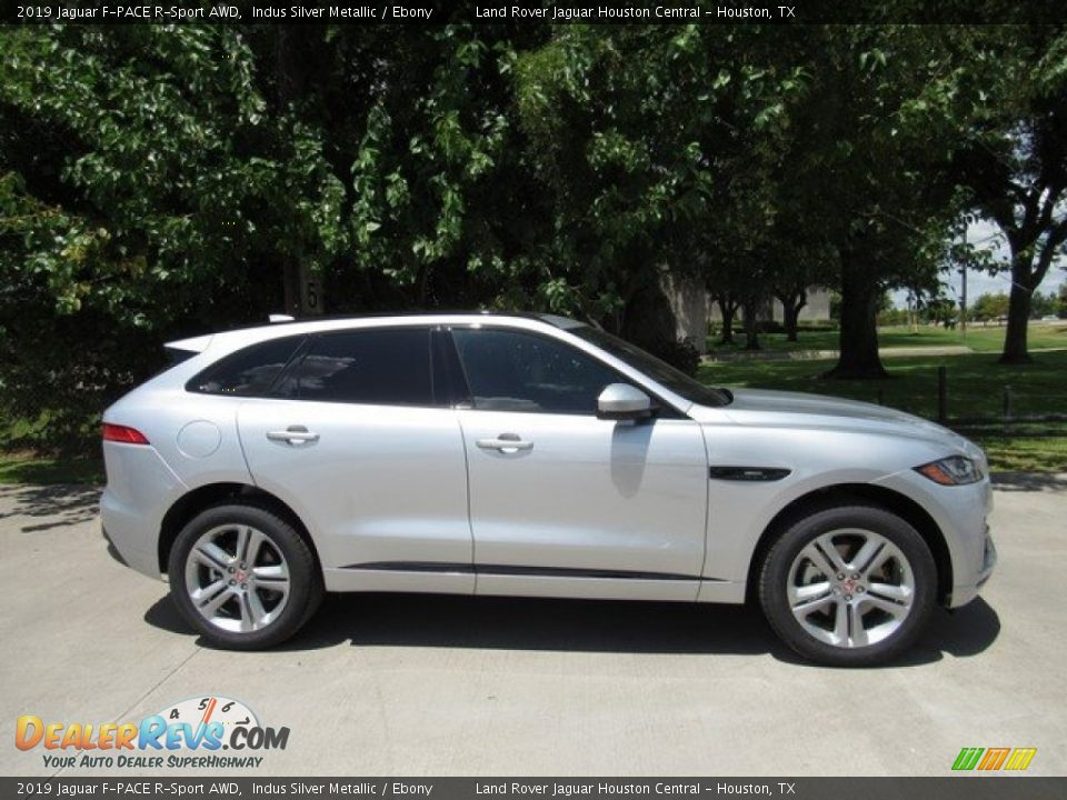 2019 Jaguar F-PACE R-Sport AWD Indus Silver Metallic / Ebony Photo #6