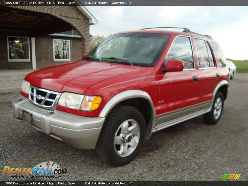 2000 Kia Sportage EX 4x4 Classic Red / Gray Photo #2