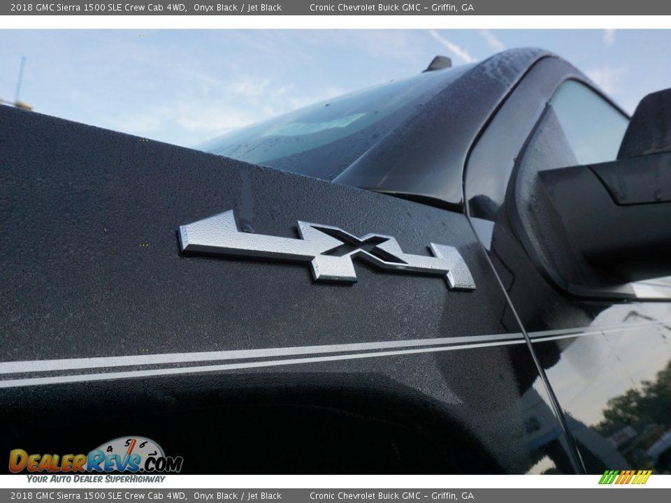 2018 GMC Sierra 1500 SLE Crew Cab 4WD Onyx Black / Jet Black Photo #9