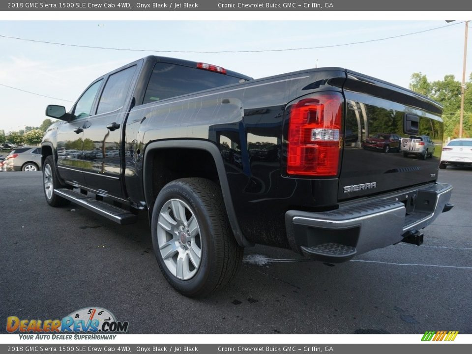 2018 GMC Sierra 1500 SLE Crew Cab 4WD Onyx Black / Jet Black Photo #14