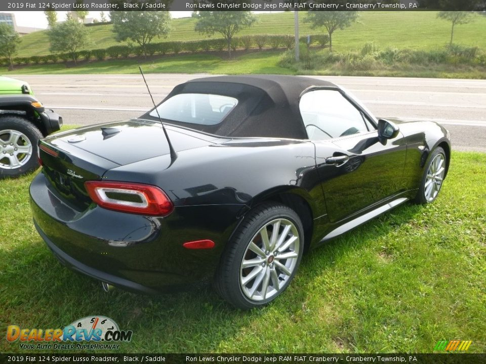 2019 Fiat 124 Spider Lusso Roadster Black / Saddle Photo #5