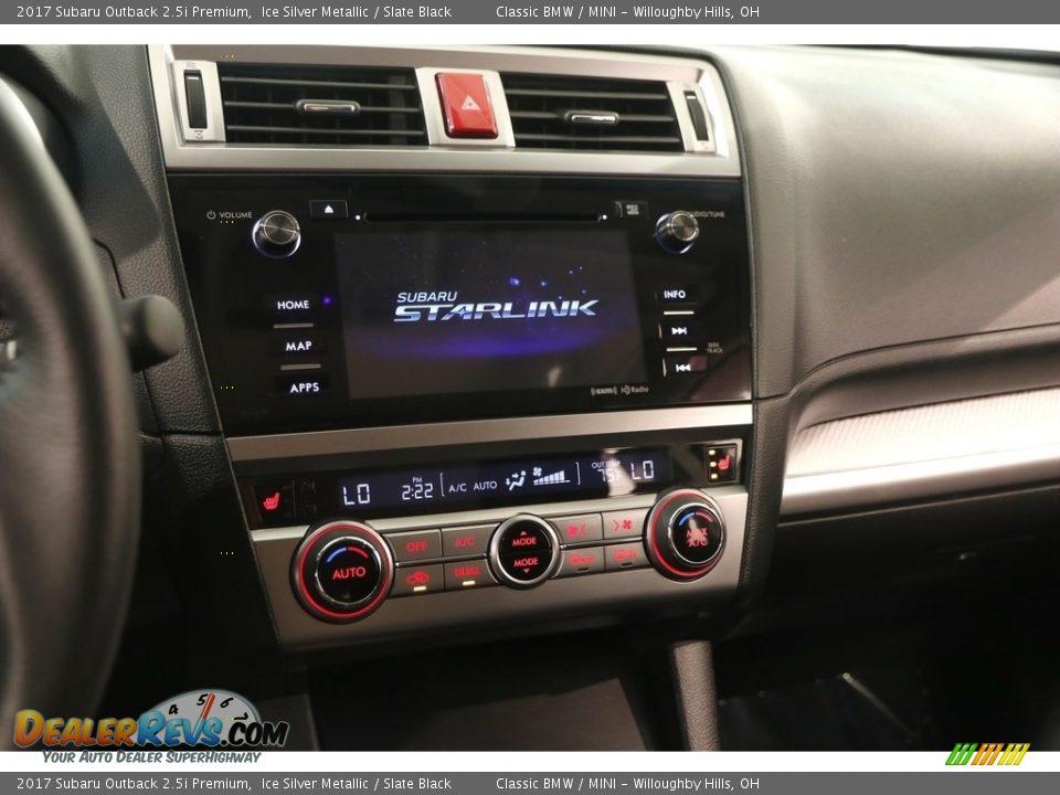 2017 Subaru Outback 2.5i Premium Ice Silver Metallic / Slate Black Photo #10