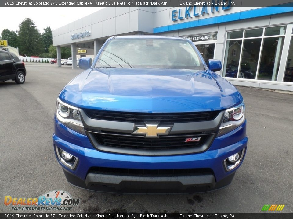 2019 Chevrolet Colorado Z71 Extended Cab 4x4 Kinetic Blue Metallic / Jet Black/Dark Ash Photo #2