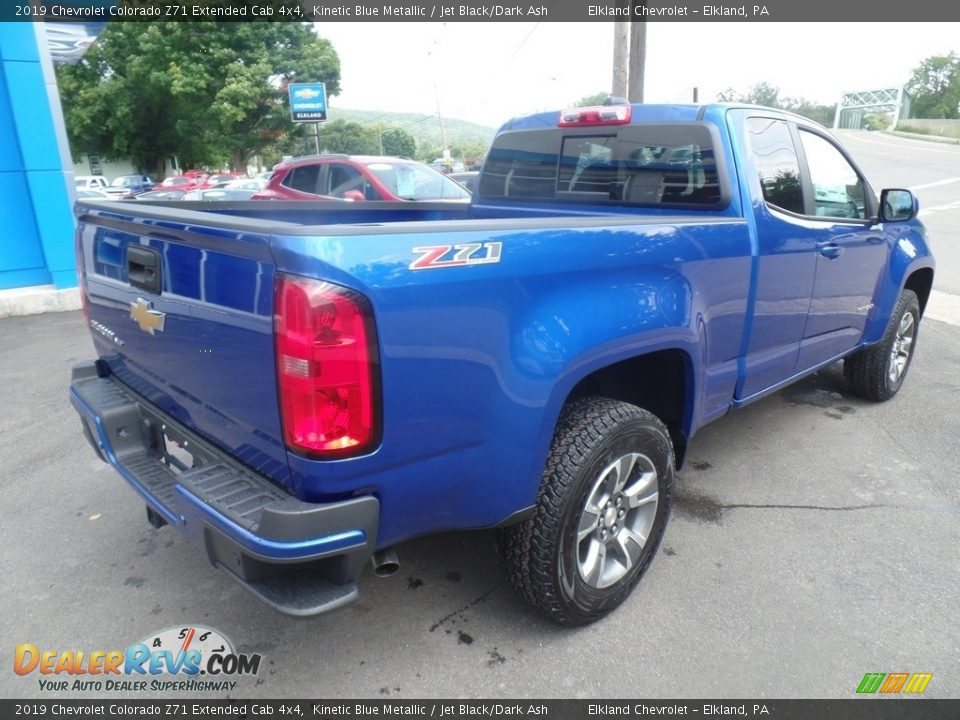 2019 Chevrolet Colorado Z71 Extended Cab 4x4 Kinetic Blue Metallic / Jet Black/Dark Ash Photo #5