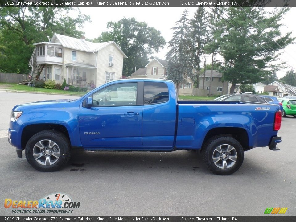 2019 Chevrolet Colorado Z71 Extended Cab 4x4 Kinetic Blue Metallic / Jet Black/Dark Ash Photo #8
