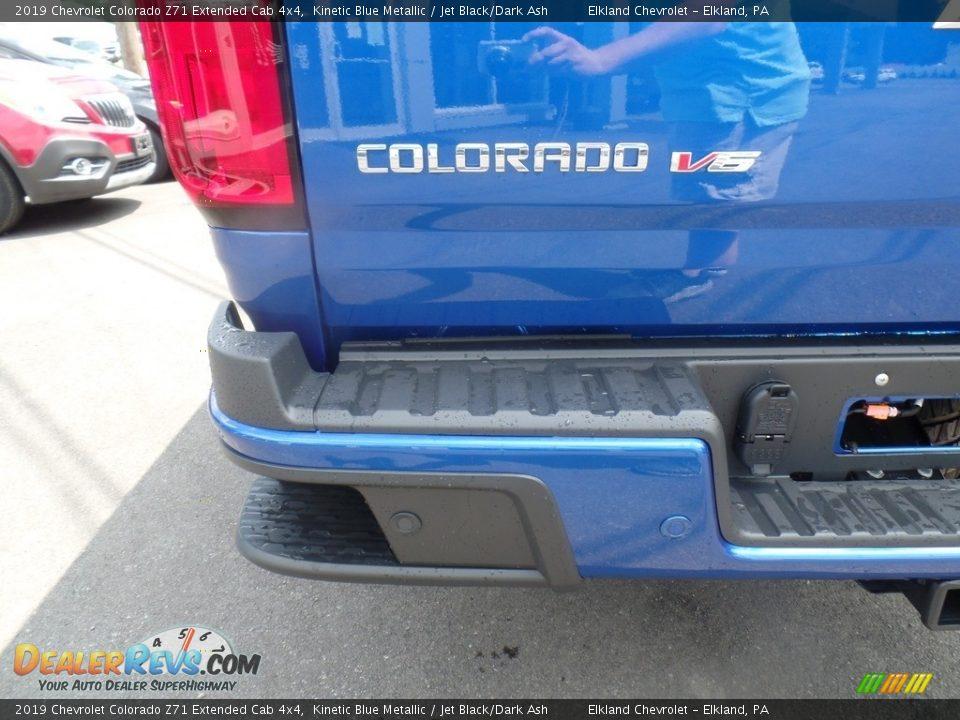 2019 Chevrolet Colorado Z71 Extended Cab 4x4 Kinetic Blue Metallic / Jet Black/Dark Ash Photo #11