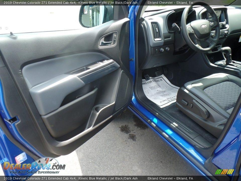 2019 Chevrolet Colorado Z71 Extended Cab 4x4 Kinetic Blue Metallic / Jet Black/Dark Ash Photo #12