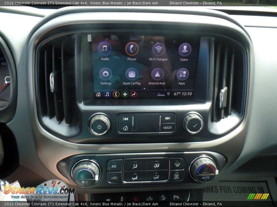 2019 Chevrolet Colorado Z71 Extended Cab 4x4 Kinetic Blue Metallic / Jet Black/Dark Ash Photo #24