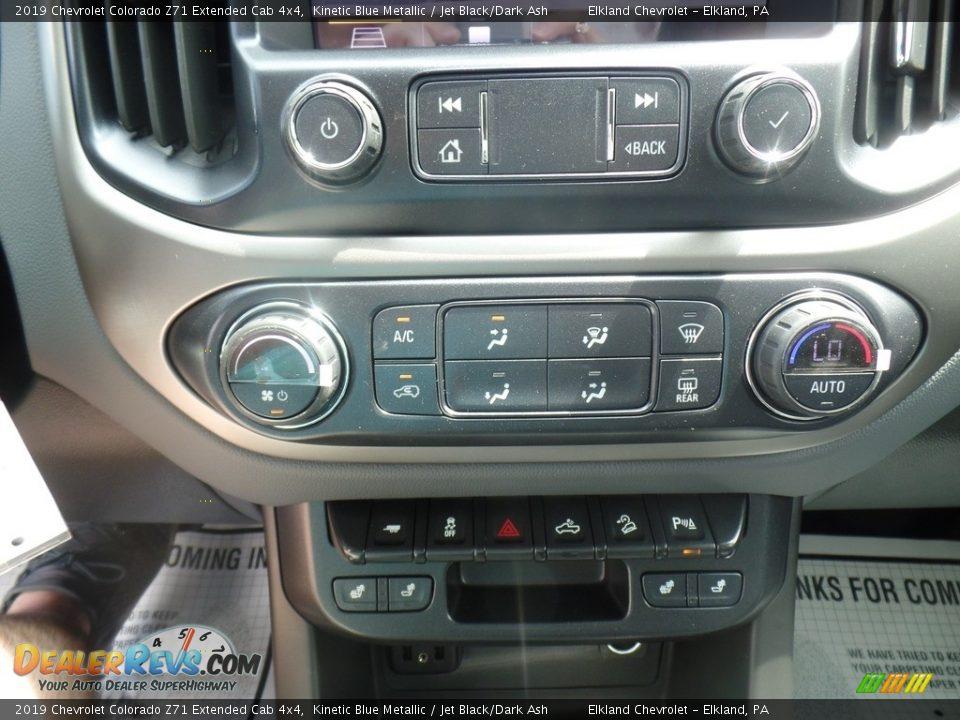 2019 Chevrolet Colorado Z71 Extended Cab 4x4 Kinetic Blue Metallic / Jet Black/Dark Ash Photo #30