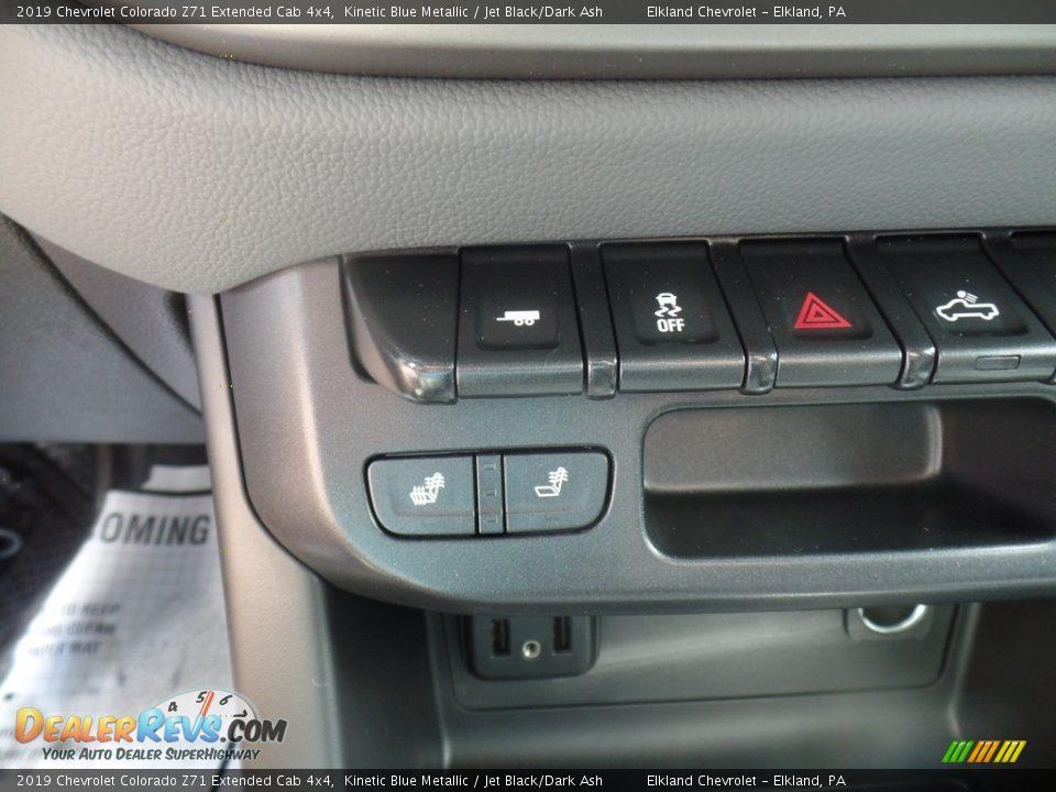 2019 Chevrolet Colorado Z71 Extended Cab 4x4 Kinetic Blue Metallic / Jet Black/Dark Ash Photo #31