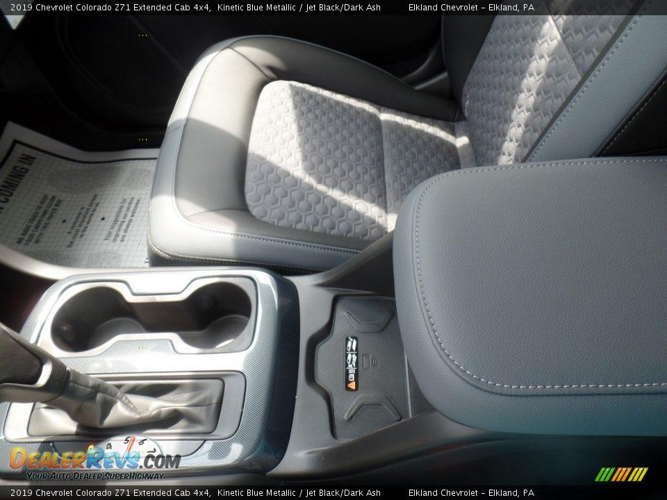 2019 Chevrolet Colorado Z71 Extended Cab 4x4 Kinetic Blue Metallic / Jet Black/Dark Ash Photo #34