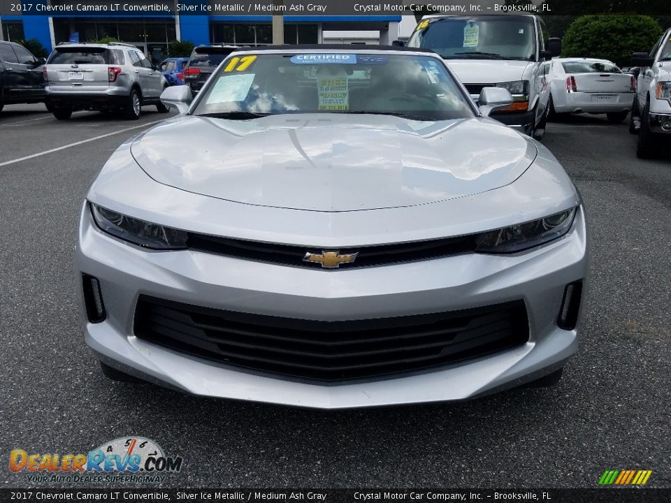 2017 Chevrolet Camaro LT Convertible Silver Ice Metallic / Medium Ash Gray Photo #8