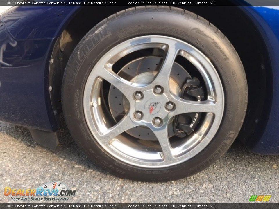 2004 Chevrolet Corvette Convertible LeMans Blue Metallic / Shale Photo #18