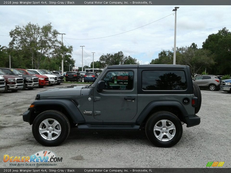 2018 Jeep Wrangler Sport 4x4 Sting-Gray / Black Photo #2