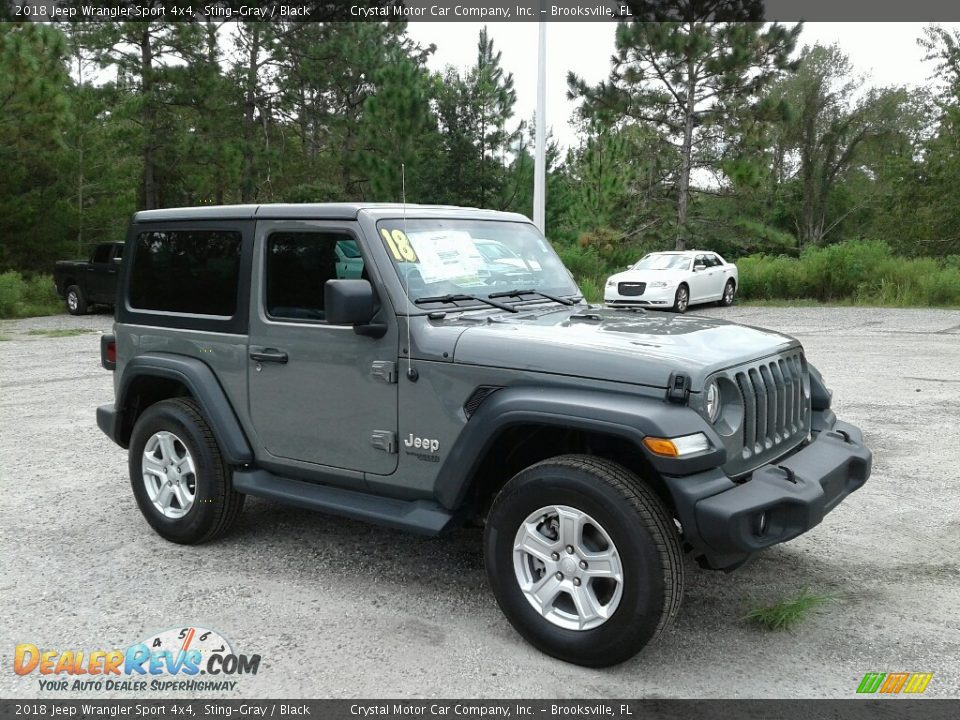 Sting-Gray 2018 Jeep Wrangler Sport 4x4 Photo #7