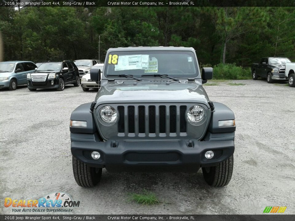 2018 Jeep Wrangler Sport 4x4 Sting-Gray / Black Photo #8