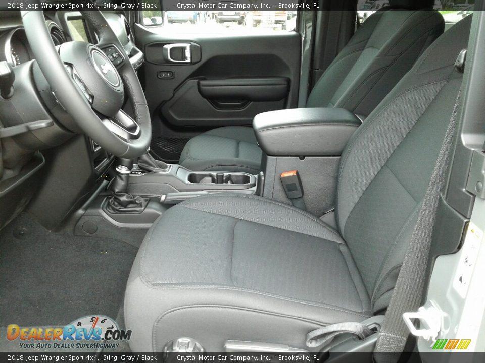2018 Jeep Wrangler Sport 4x4 Sting-Gray / Black Photo #9